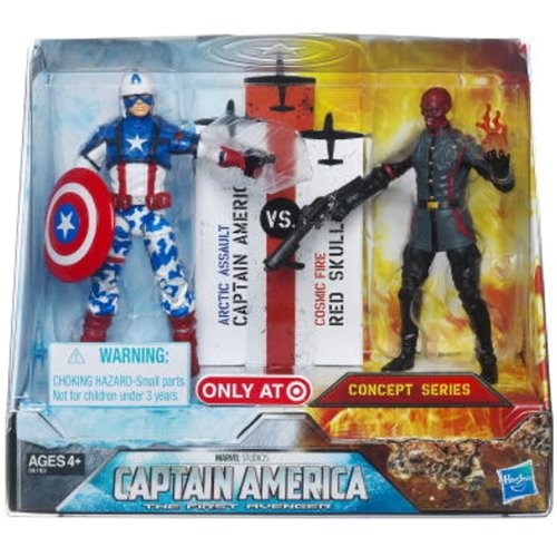 Buy Low Price Hasbro Captain America Movie Exclusive 4 Inch Action Figure 2Pack Captain America Arctic Assault Red Skull Cosmic Fire (B005CP5LWA)
