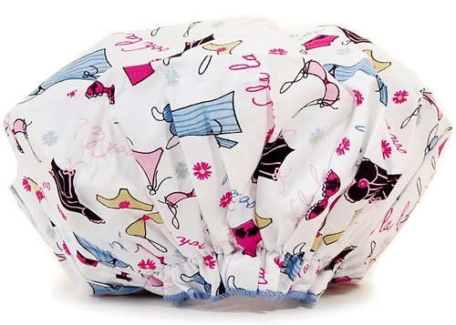 Spa Sister Cotton Bouffant Shower Cap - Lingerie