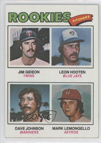 Rookie Pitchers/Jim Gideon RC (Rookie Card)/Leon Hooten RC (Rookie Card)/Dave Johnson RC (Rookie Car David Johnson, Mark Lemongello, Houston Astros, Minnesota Twins, Seattle Mariners, Toronto Blue Jays (Baseball Card) 1977 Topps #478 at Amazon.com