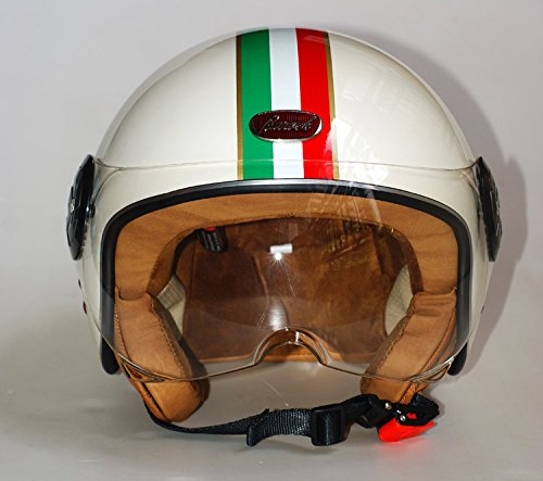 Size M Fashion Brand Beon Helmets Vintage Motorcycle Helmet Scooter Open Face Helmet Unisex Moto 3/4 Capacete B-110 Italy Flag Helmet 2 10 year old full covered kid helmet balance bike children full face helmet cycling motocross downhill mtv dh safety helmet bmx