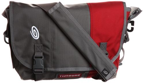 TIMBUK2 Classic Messenger Bag - S, Grey (Gunmetal/Rev Red)