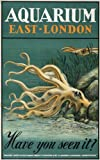 TX328 Vintage 1930's Aquarium East London Railway Travel Poster Re-Print - A4 (297 x 210mm) 11.7