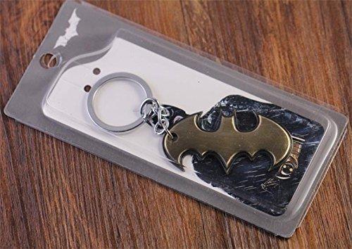 NEW ARRIVE GOLD SUPER HERO SUPERHERO MARVEL BATMAN BAT METAL MOVIE PRODUCT KEYCHAIN TOYS PENDANT