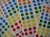 7,000 STICKY COLOURED 8mm LABELS DOTS ROUND CIRCLES SELF ADHESIVE ASSORTED COLOURS