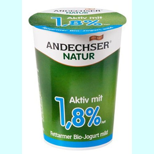 Andechser Natur Bio Joghurt natur 1,8% 500 gr