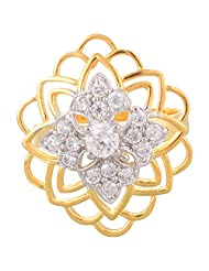 Creation Jewellery Gold Rodium Plated Gold Plated Clip-On Ring For Women - B00Z9USJJK