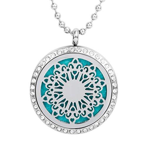 Beste-Xmas-Geschenk-fr-Sie-Meilanty-Damen-Halskette-60cm-le-Diffusor-Aromatherapie-mit-6-Pads-YZ-C01