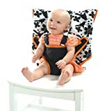 512BYsukQNL. SL160  My Little Seat Travel High Chair Coco Snow, Black and White, 6 Months