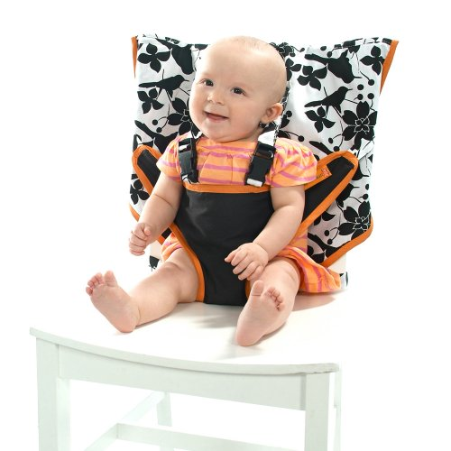 My Little Seat Travel High Chair Coco Snow, Black and White, 6 Months