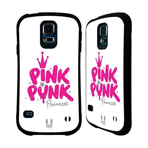 Head Case Designs Pink Punk Princess Dolce E Piccante Case Ibrida per Samsung Galaxy S5 / S5 Neo