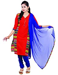 Ginni 6 Women's Cotton Stitched Salwar Suit - B017BHHMAU
