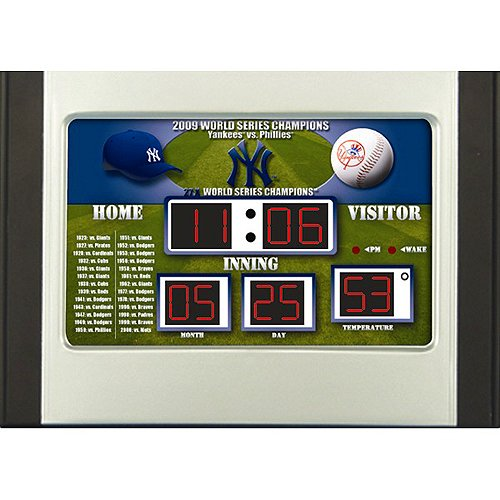 MLB New York Yankees Scoreboard Desk Clock