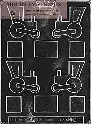 TRAIN NUT CUP Chocolate Candy Mold With Candy Making Instruction -set of 3
