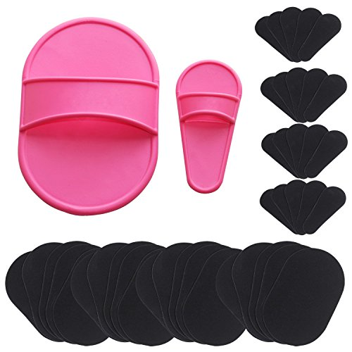 TRIXES Exfoliating Hair Removal 40 Pad Set for Smooth Skin on Legs Arm Face Top Lip (Hair Removal Legs compare prices)