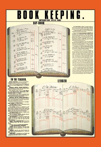 Wholesale Book Keeping 20×30 poster, [Prints, Education]