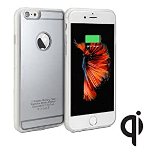 GMYLE® Qi Wireless Charging Receiver TPU Protective Soft Case for iPhone 6s / 6 (4.7 inch Display) - Silver