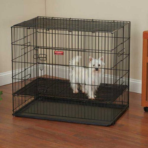 Proselect Powder Coated Steel Puppy Playpens With Plastic Pan, Large, Black