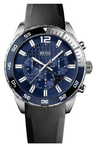 Hugo Boss 1512803 Black Strap Blue Dial Chronograph Men's Watch