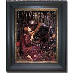 La Belle Dame Sans Merci by Waterhouse Premium Black & Gold Framed Canvas (Ready-to-Hang)