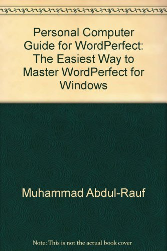 PC Guide for Wordperfect: Windows/Book and Video