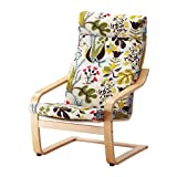 IKEA POANG - Armchair cushion, Blomstermala multicolour