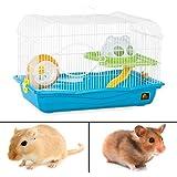 Hamster Haven Playhouse 2 Level Cage Wheel Slide Rodent Gerbil Mice Play Habitat
