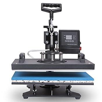 VEVOR Heat Presses 12 X 15 Inch 5 in 1 Digital Multifunctional Sublimation T Shirt Heat Press Machine 1250W 360 Degree Rotation HeatPress Machine for T shirts Hat Mug Cap Plate (12 X 15 Inch 5 in 1)