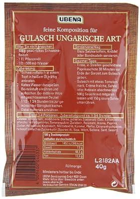 Ubena Gulasch Ungarische Art, 4er Pack (4 x 40 g) von UBENA auf Gewürze Shop