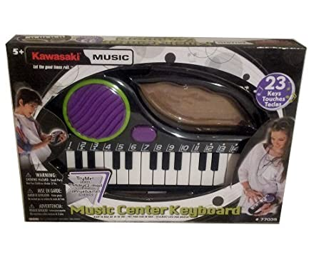 Kawasaki ** Music Center Keyboard ** Ready to Play ** with Carrying Handle by KIDZ TOYZ (English Manual)