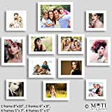 "12 Pc White Photo Frame Wall Collage, 1Pc 8"" X 10"",2Pc 6"" X 8"", 5 Pc 5"" X 7"", 4Pc 5"" X 5"""