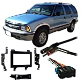 Fits Chevy S-10 Blazer 95-97 Double DIN Stereo Harness Radio Install Dash Kit
