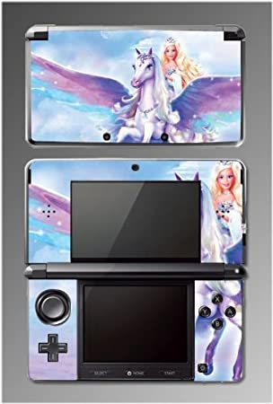 Barbie Unicorn Pony Princess Girl Video Game Vinyl Decal Cover Skin Protector 3 for Nintendo 3DS
