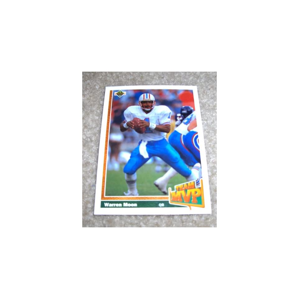 1991 Upper Deck Warren Moon # 460 NFL Football Team MVP Card