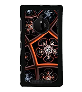 iFasho Animated Pattern design colorful flower in royal style Back Case Cover for Nokia 830