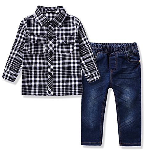 ferenyi-us-kids-clothing-boys-casual-short-sleeved-plaid-shirt-and-denim-jeans-sets-5-6-years-black