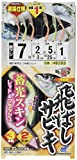 ハヤブサ(Hayabusa) 飛ばしサビキ 蓄光スキン レッド&フラッシュ 7-2