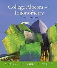 Algebra and Trigonometry by Richard N. Aufmann