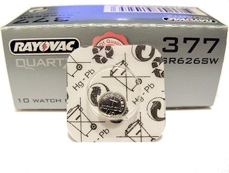 Rayovac Silver Oxide Uhrenbatterie G4 / SR626SW / 377 1er-Blister