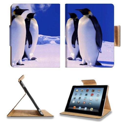 Animals Penguins Group Nature Snow Birds Apple Ipad 2Nd 3Rd 4Th Flip Case Stand Smart Magnetic Cover Open Ports Customized Made To Order Support Ready Premium Deluxe Pu Leather 9 7/8 Inch (250Mm) X 7 7/8 Inch (200Mm) X 5/8 Inch (17Mm) Msd Ipad Professiona front-1053509