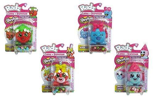 Radz Shopkins Toy Candy Dispenser - 4 Pack (Candy Toy Dispenser compare prices)