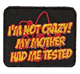 TBBT The big bang theory I am not Crazy Sheldon Cooper DVD Aufnäher Patch