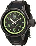 Invicta Mens Russian Diver QTZ Black Rubber Watch 4338