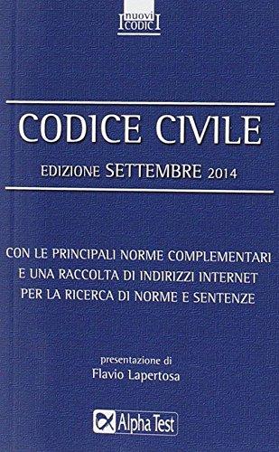 Codice civile. Settembre 2014