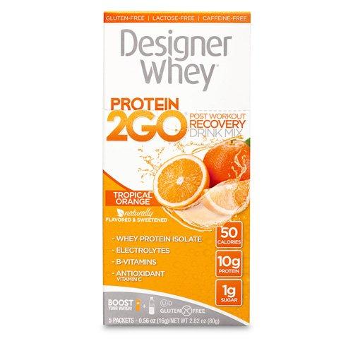 Designer Whey Protein To Go Packets Orange 5 Packets