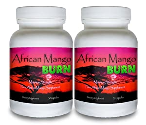 African Mango Burn 2 Bottles - The Ultimate African Mango Fat Burning Supplement Pure Irvingia Gabonensis Weight Loss Appetite Suppressing Diet Pill from African Mango Burn