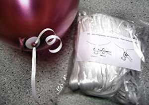 1 Pack. = 100 Stück Ballon-Fix-Verschlüsse mit Kunststoffband