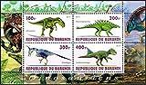 【恐竜・古生物】ブルンジ2010年4種連刷シート