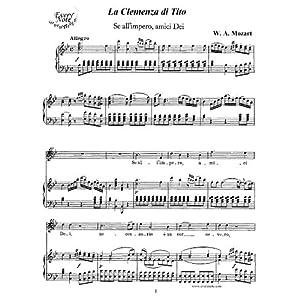 Mozart: La Clemenza di Tito - Se allimpero, amici Dei - Titus, tenor: Instantly download and print sheet music Mozart