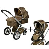 "Safety 1st 19802940 - Roadmaster Set-Travelsystem, 2 in 1 Kombikinderwagen inklusiv Kinderwagen- und Sportwagenaufsatz, braunvon ""Safety 1st"""