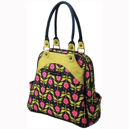 petunia pickle bottom organic cotton convertible sashay satchel diaper bag calming cosmos. Black Bedroom Furniture Sets. Home Design Ideas